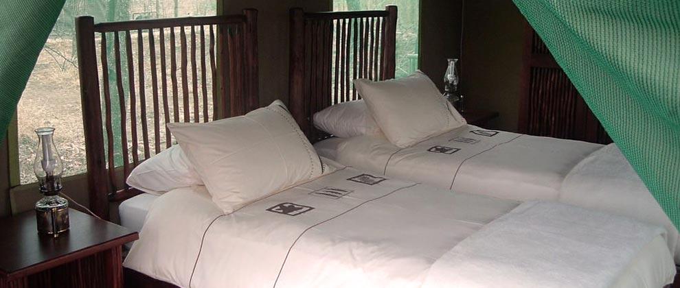 Bedroom at Machampane Wilderness Camp