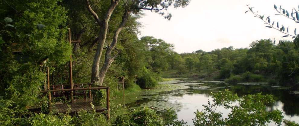 View over river at Machampane Camp