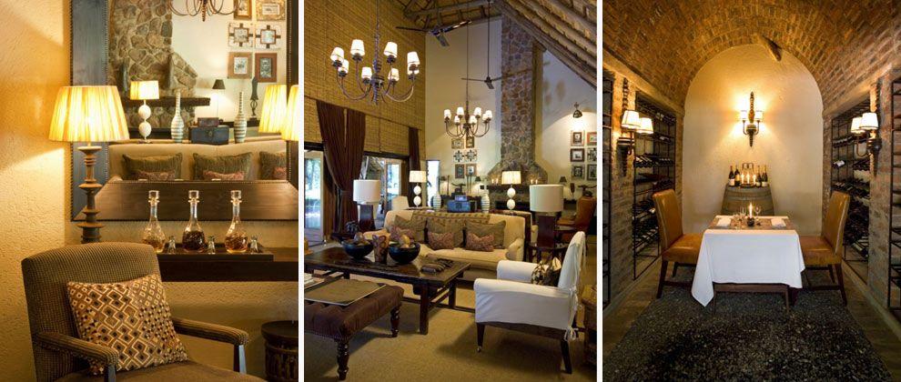 Lounge and interior of Dulini Lodge