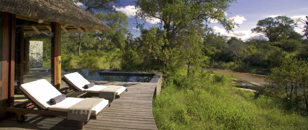 Pool deck at Leadwood Lodge