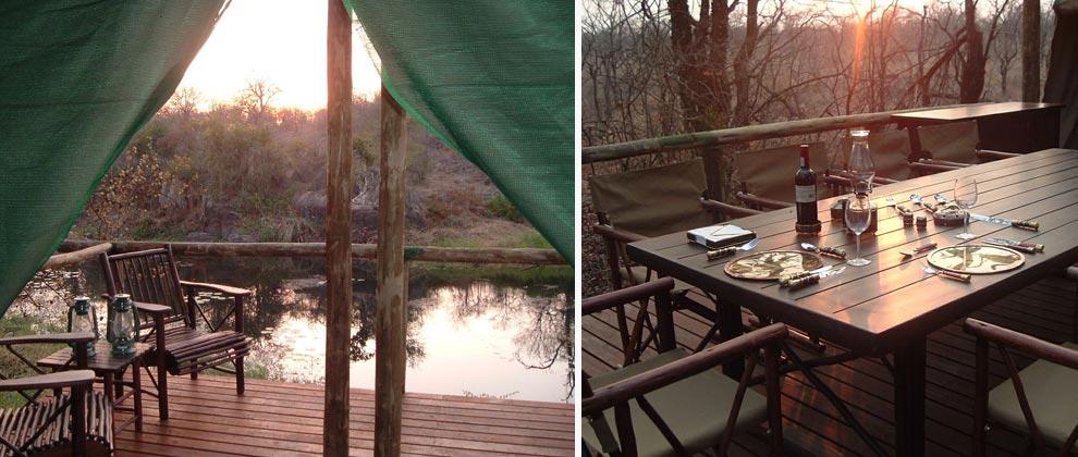 River view from Machampane Lodge