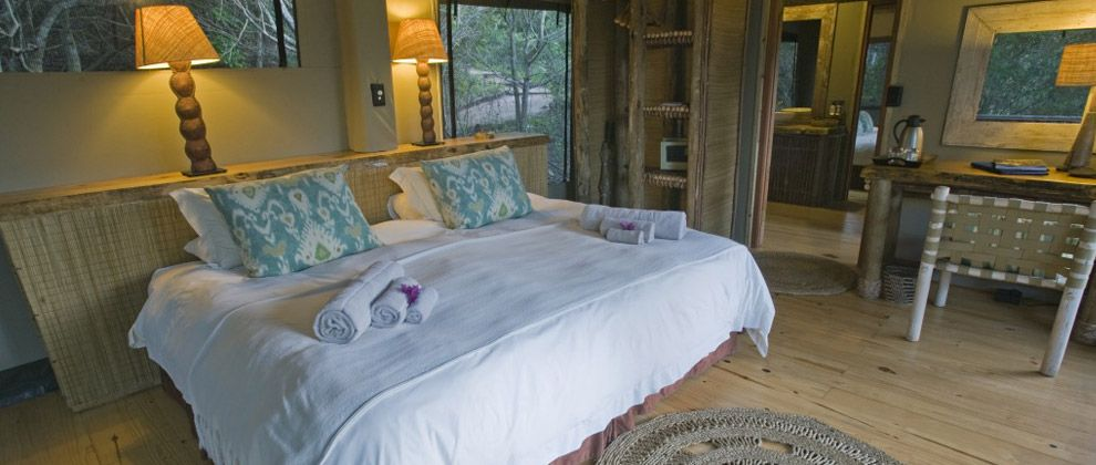 Bedroom at Rocktail Beach camp