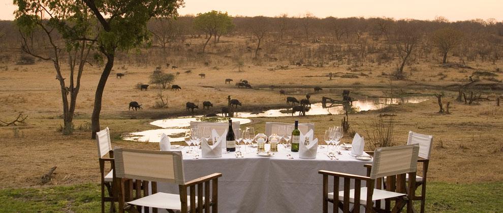 Bush dinner at Victoria Falls