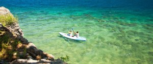 Kayaking around Quilalea