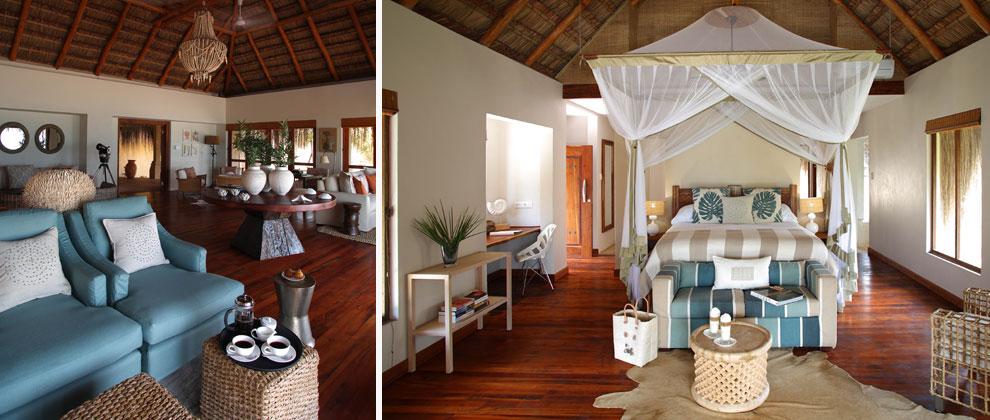 Bedroom interior at Azura Benguerra
