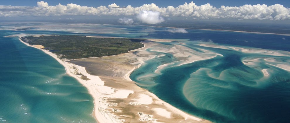 Aerial view of Benguerra Island