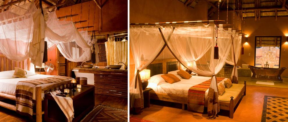 Bedrooms at Benguerra Lodge