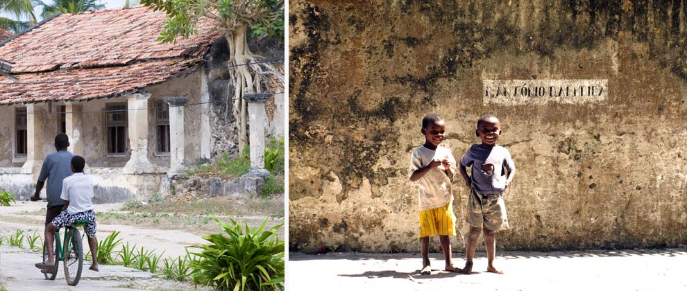Local kids on Ibo Island