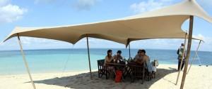 Beach lunch on Ibo Island