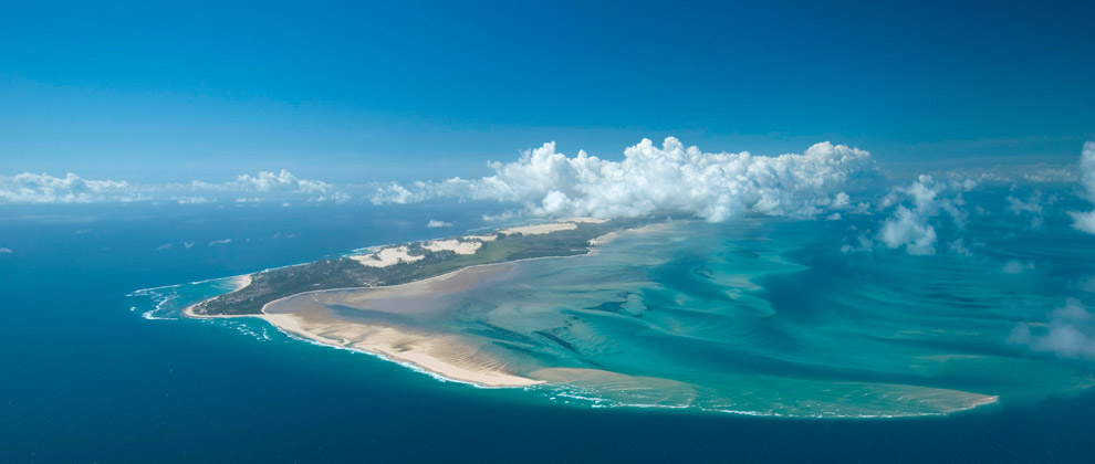 Aerial shot of Bazaruto Island