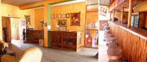Reception and pool bar at Kaya Kweru