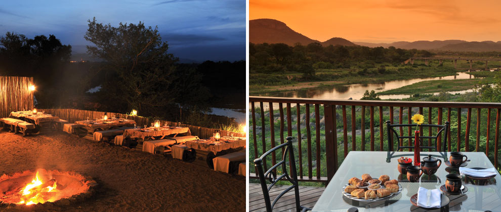 Dining on the deck at Pestana Kruger