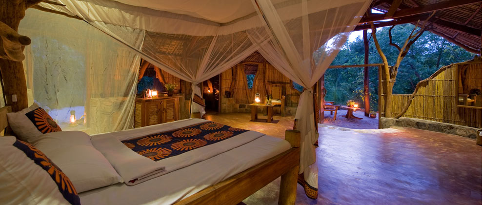 Bedroom at Nkwichi Lodge