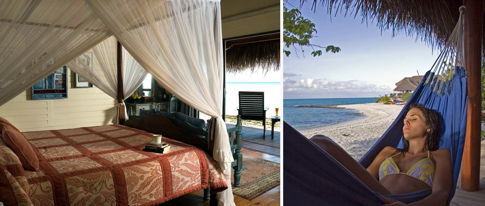 Bedroom and ocean view at Medjumbe Private Island