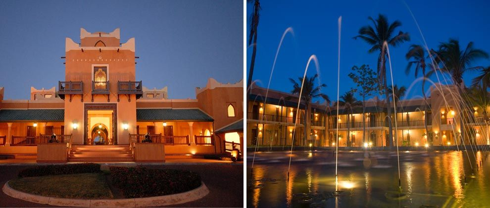 Exterior and fountain at Pemba Beach Hotel and Spa