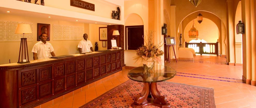 Reception area at Pemba Beach Hotel and Spa