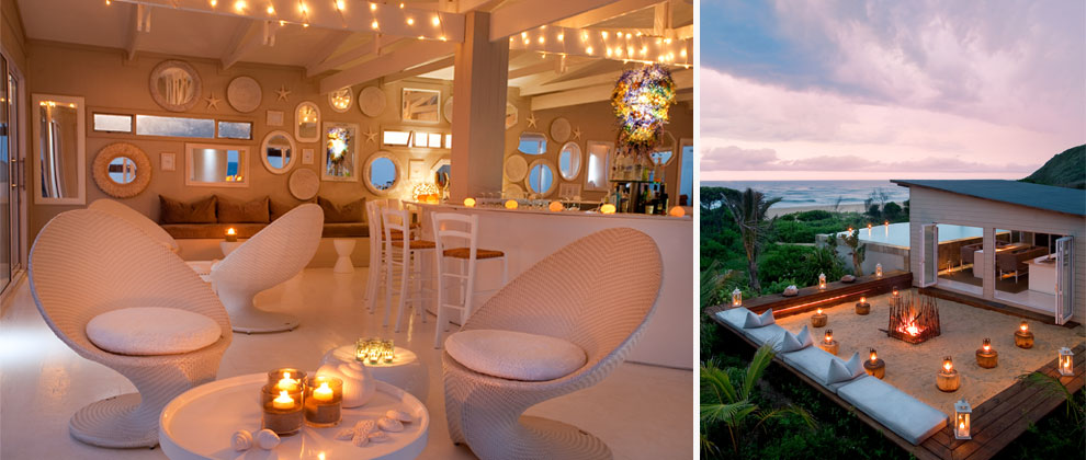 Beach bar and boma at White Pearl