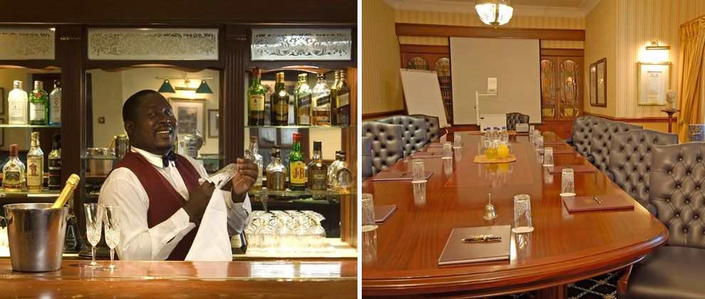 Bar and boardroom at the Stanley and Livingstone