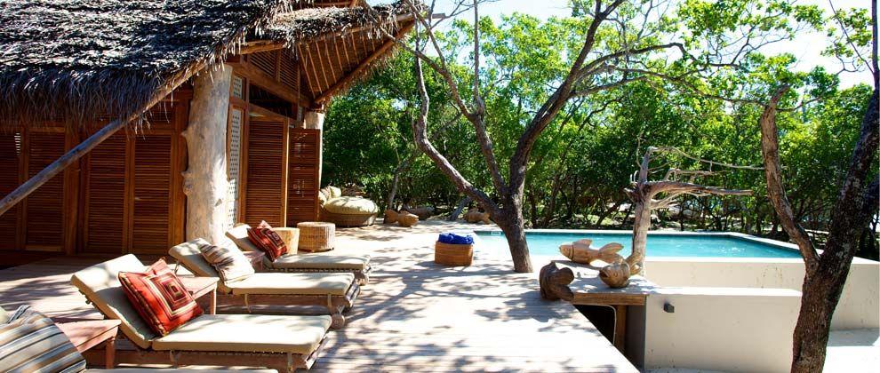Swimming pool at Vamizi Lodge
