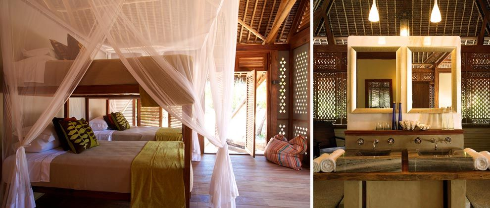 Bedroom at Vamizi Lodge
