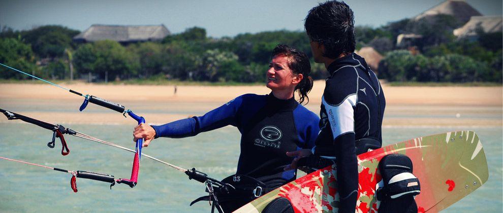Kitesurfing lesson in Vilanculos