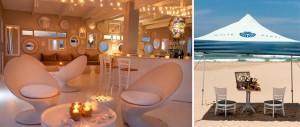 Beach bar and beach picnic