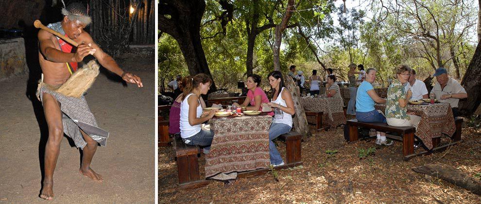 Local dancing and bush breakfast at Manyatta Rock Camp