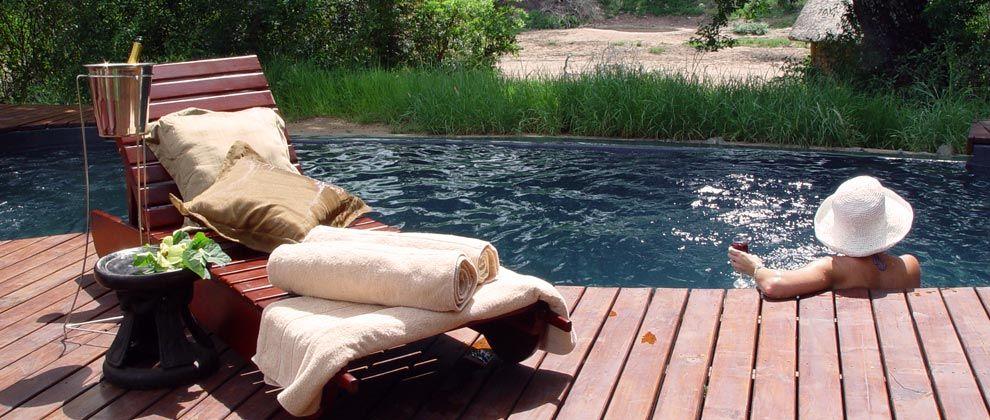 Swimming pool at Rhino Post Lodge