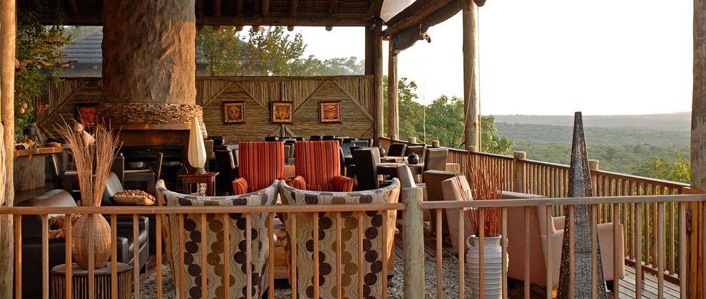 Deck and lounge at Manyatta Rock Camp