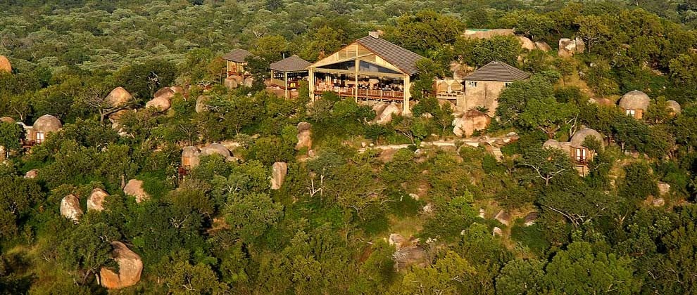 Aerial view of Manyatta Rock Camp