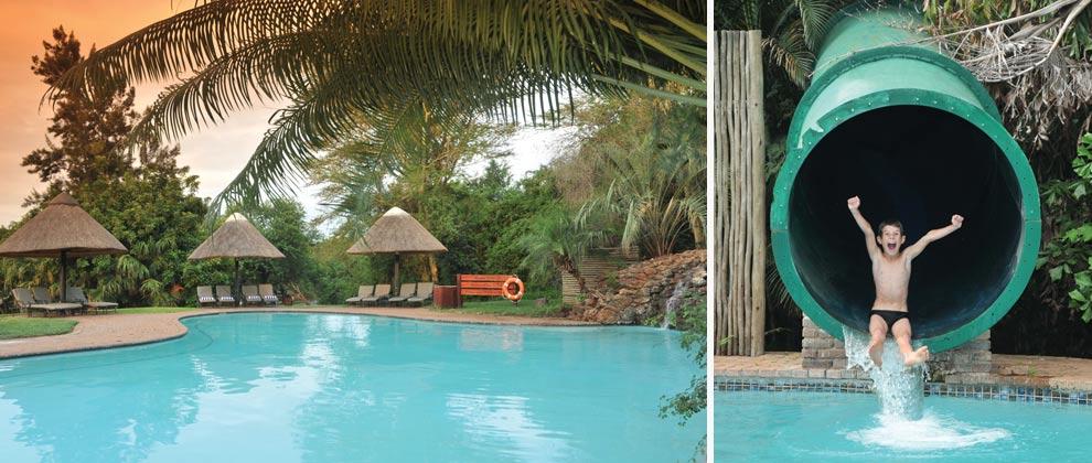 Swimming pool at Pestana lodge