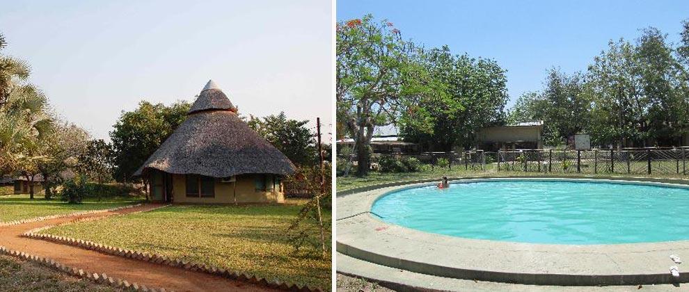 Chitengo camp at Gorongosa National park