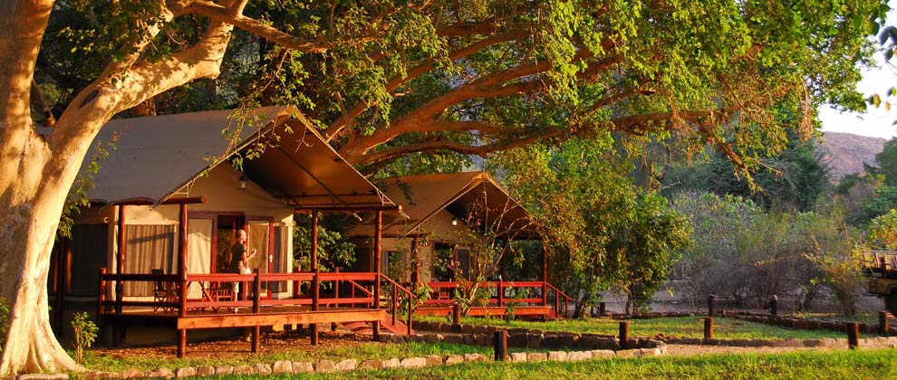Tented camp at Lugenda