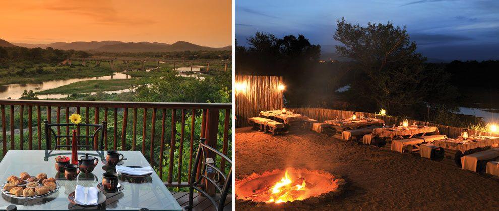 Campfire at Pestana Kruger Lodge