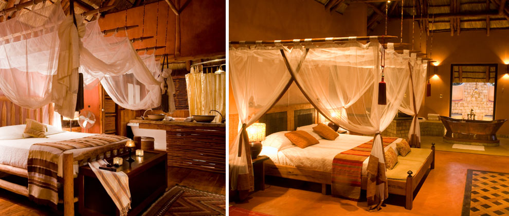 Bedrooms at Benguerra Lodge