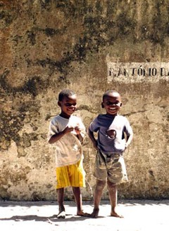 Local kids at Ibo Island
