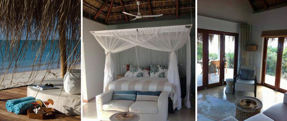Bedroom at Azura on Benguerra island