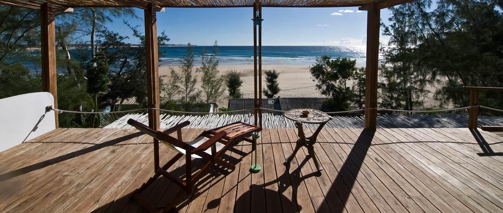 View of Tofo Beach from Baia Sonambula terrace
