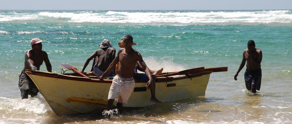 Local fisherman on Tofo Beach