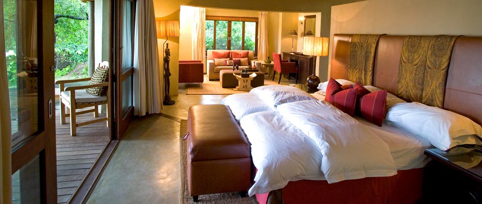 Luxurious bedroom at Exeter Lodge