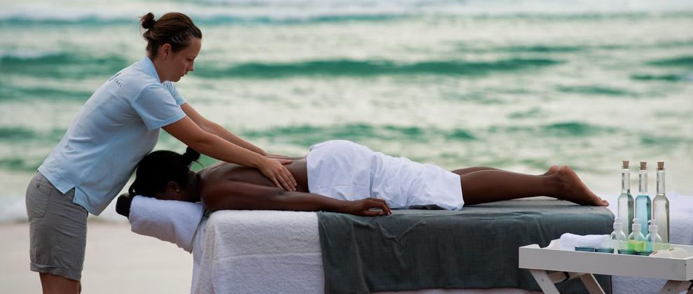 Massage at White Pearl resort
