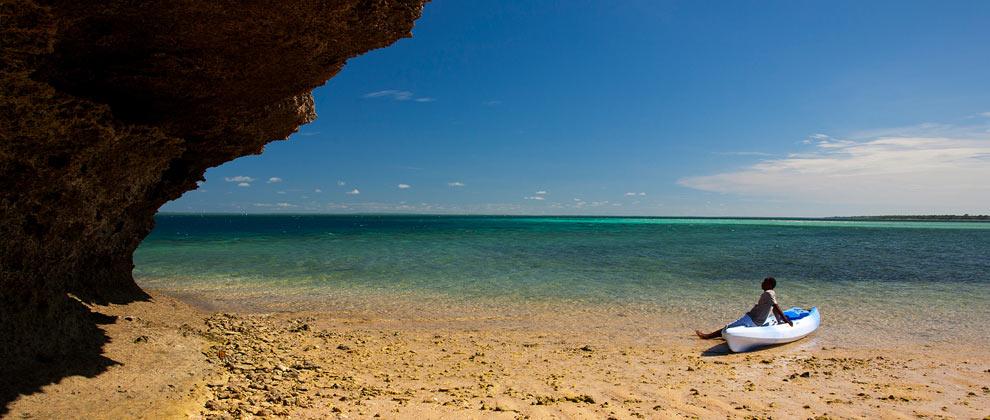 Isolated ocean views in the Quirimbas Archipelago