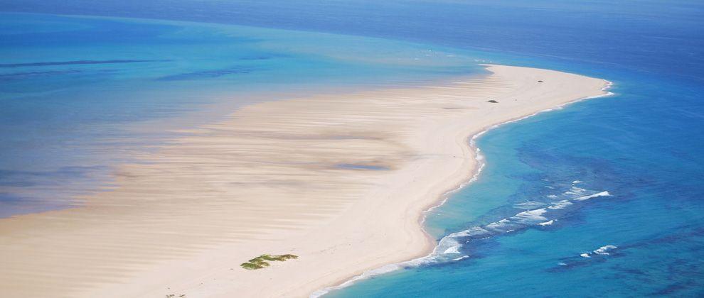 Aerial view of Bazaruto Island